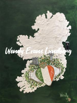 My Heart Is In Ireland 3-D Original Painting