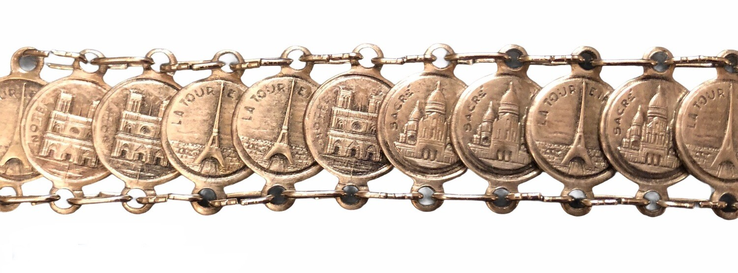 Vintage French Monuments Bracelet
