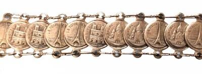 Vintage French Monuments Bracelet