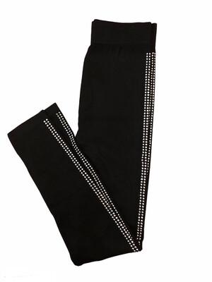 Crystal Trim Knit Leggings