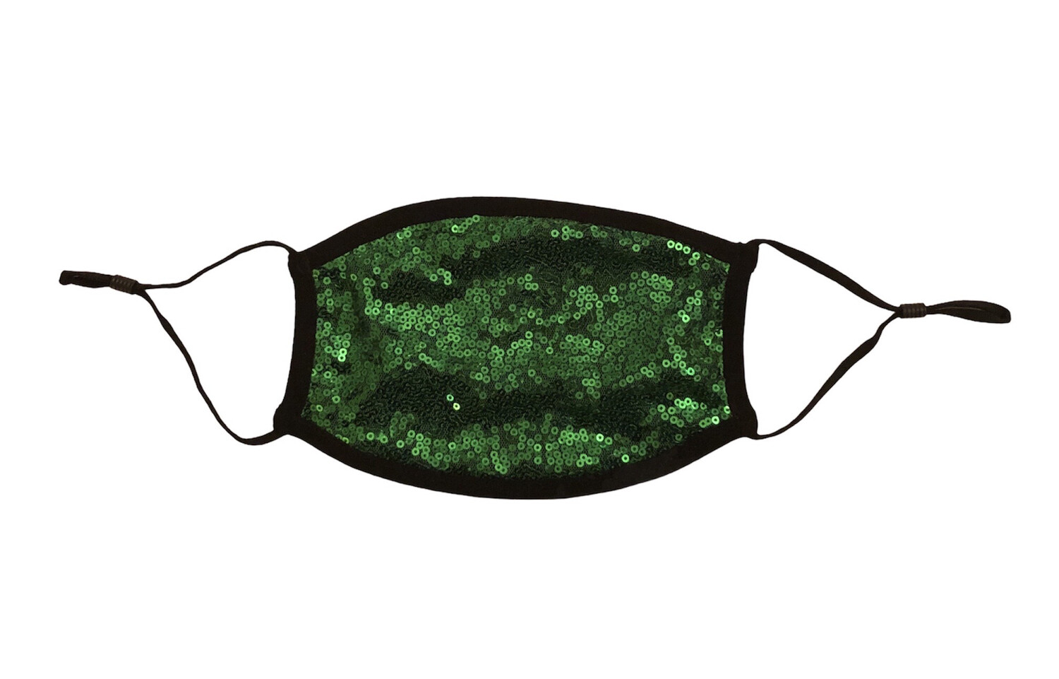 Green Sequin Face Mask