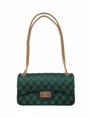 Quilted Vegan Bag Emerald