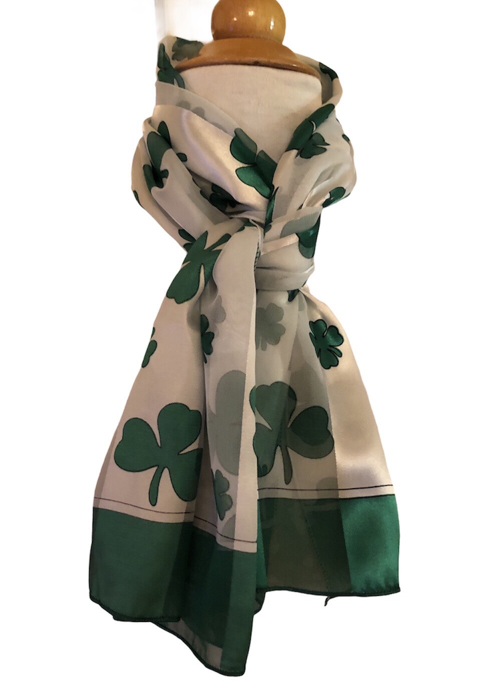 Shamrock Satin Stripe Scarf