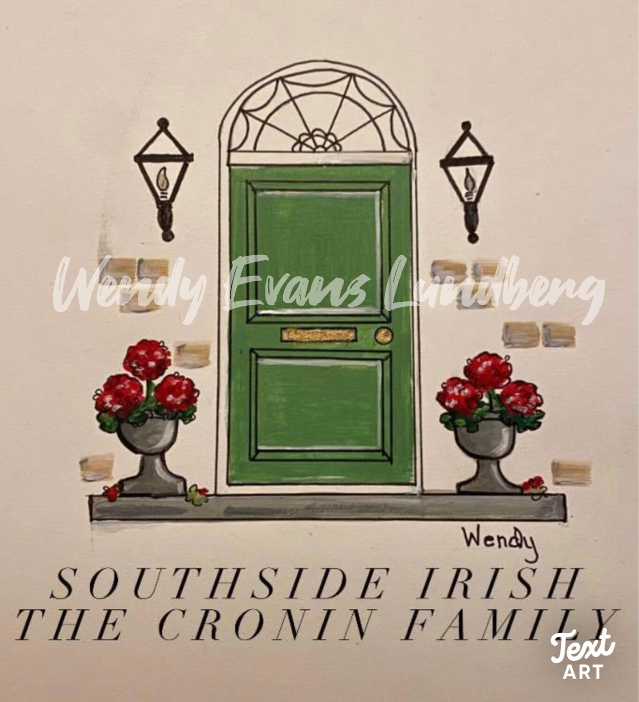 South Side Irish Family Name Framed Print