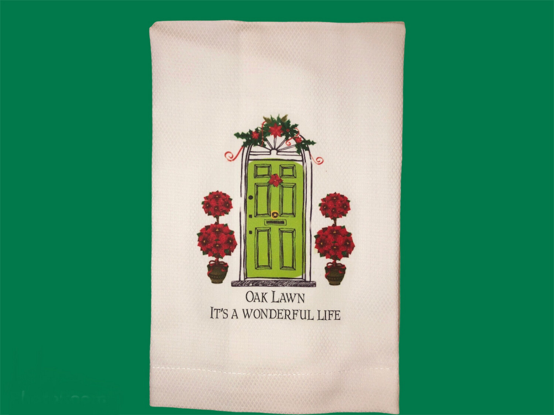Oak Lawn Christmas Dish Towel