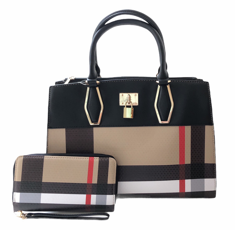 Brit Plaid Bag & Wallet/Wristlet