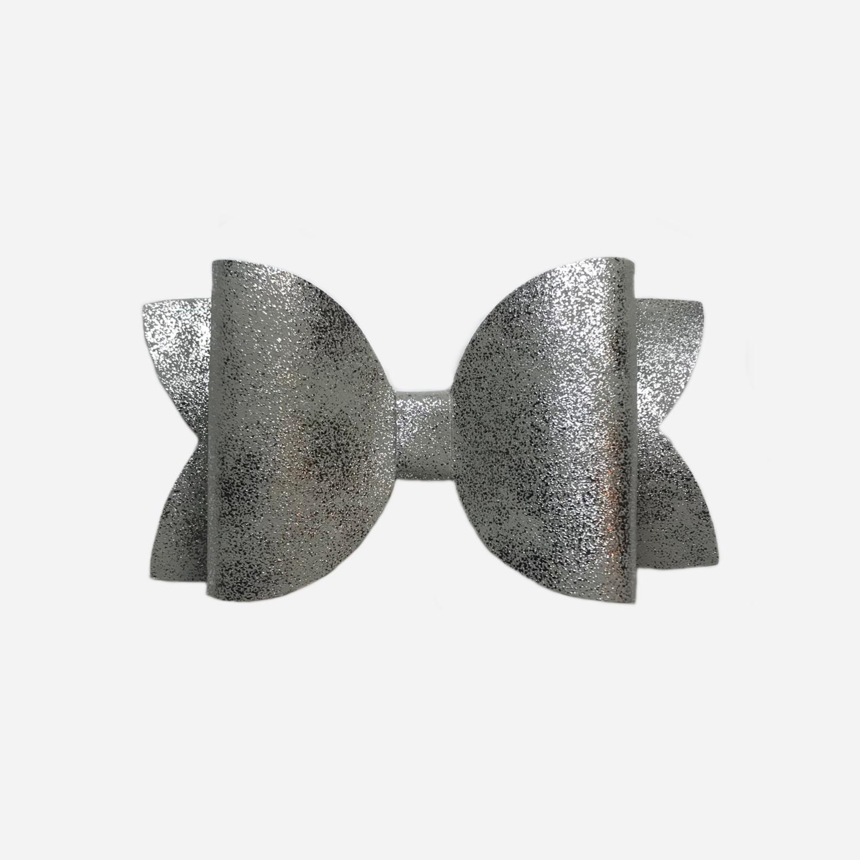 Silver Smooth Metallic Bow