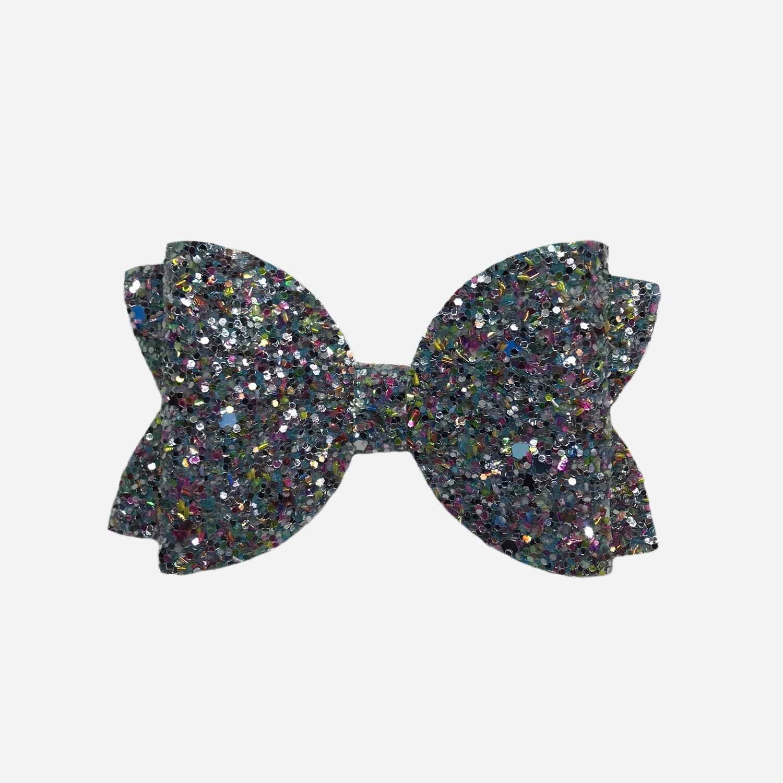 Chunky Blue Glitter Bow