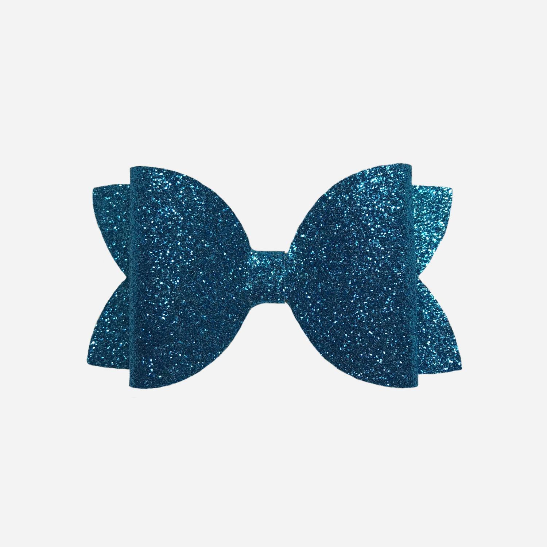 Peacock Blue Bow