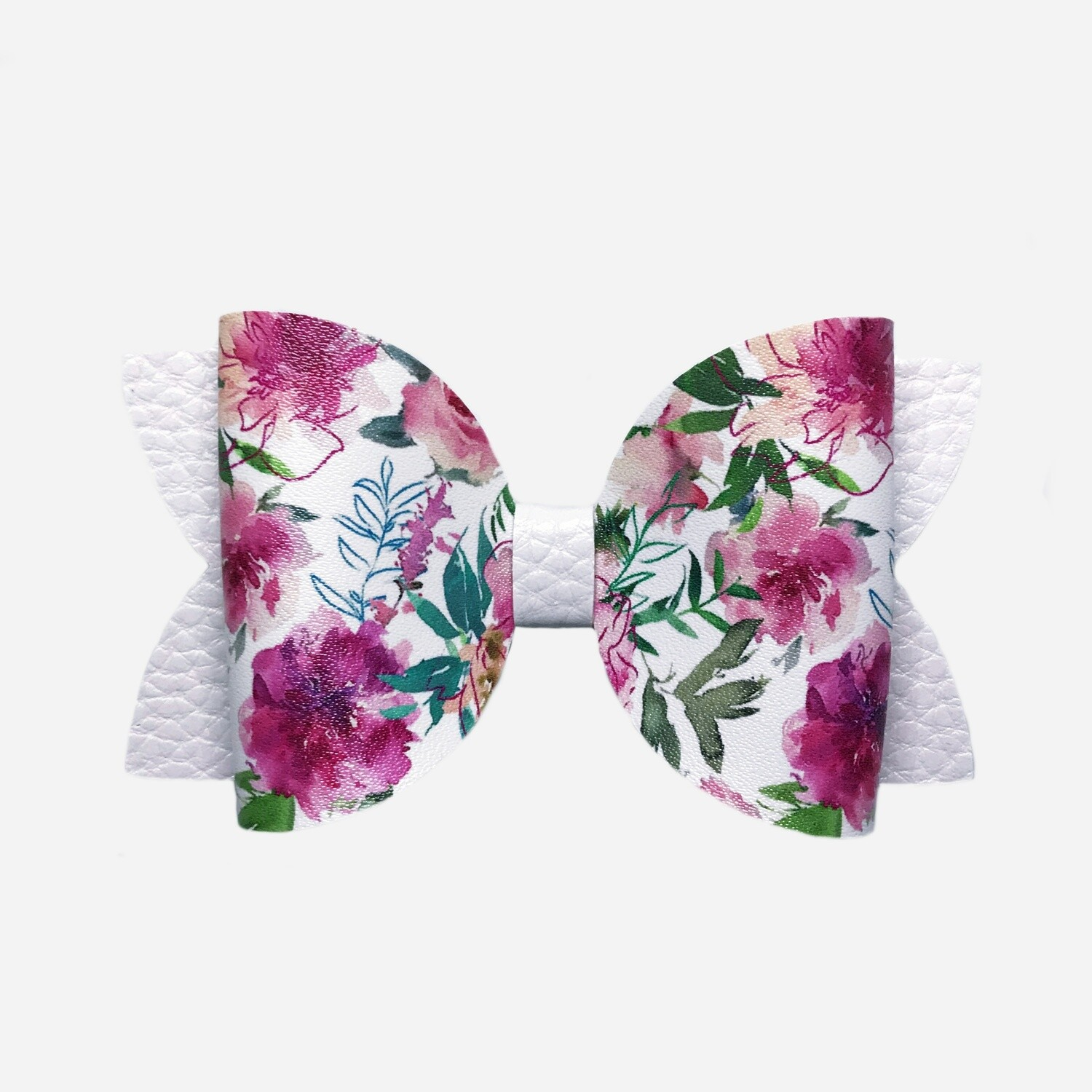 White Floral Bow