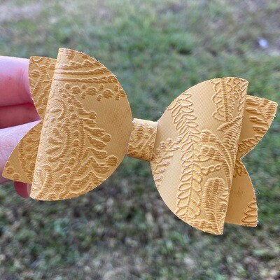 Embossed Mustard Bow