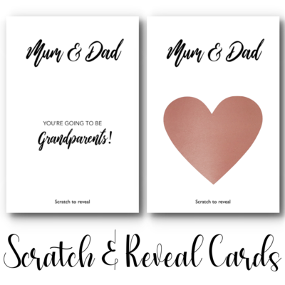"""""""You're going to be Grandparents"""" Scratch & Reveal Card"""