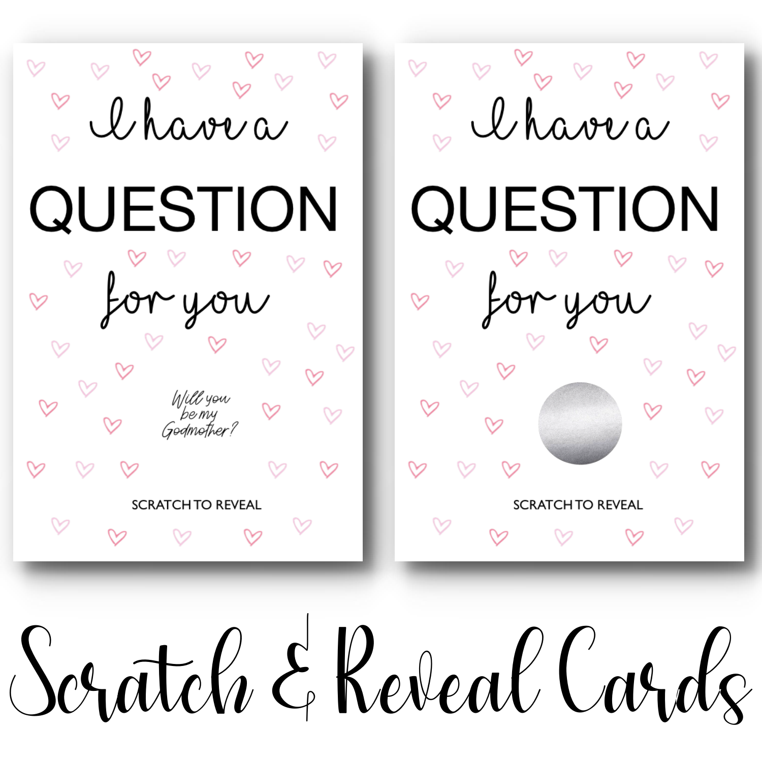 """Will you be my Godmother?"" Scratch & Reveal Card"