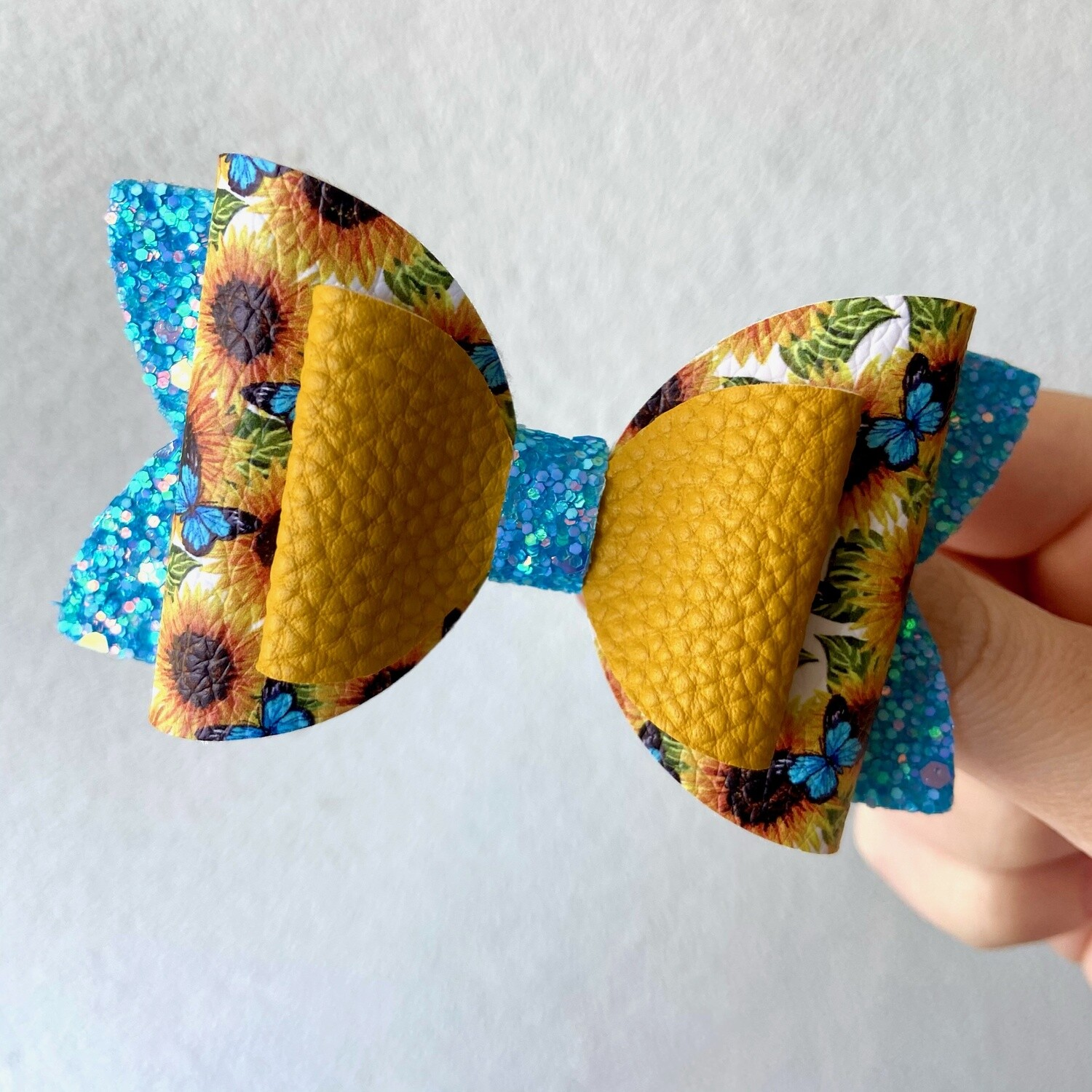 Sunflowers & Butterflies Bow