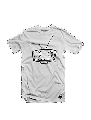 Shady Robot Logo Tee White