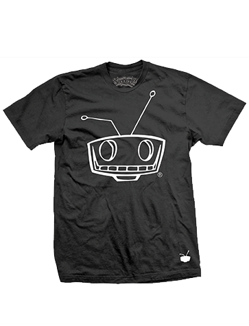 Shady Robot Logo Tee Black/White