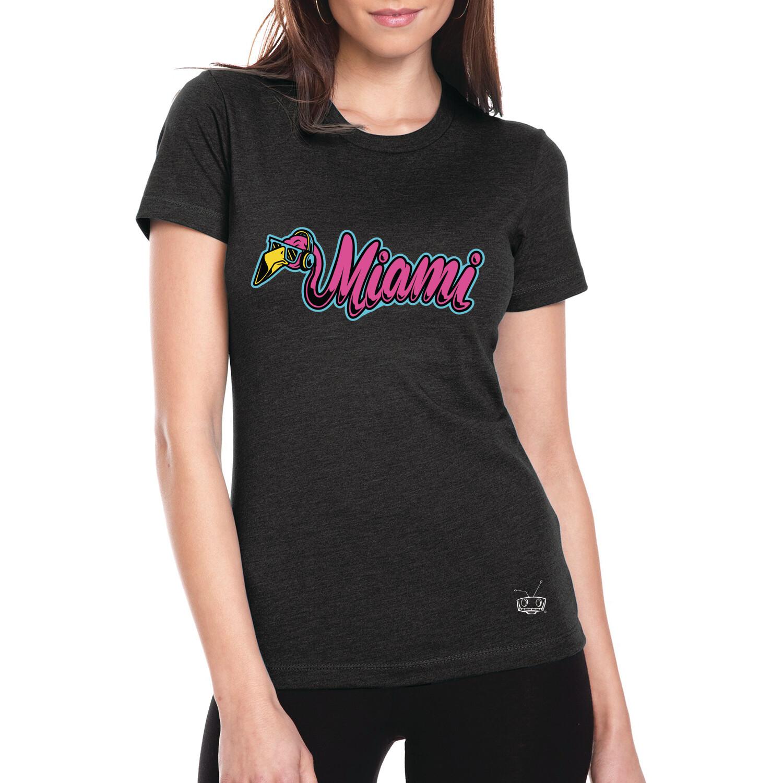 Flamingo Miami Ladies Tee