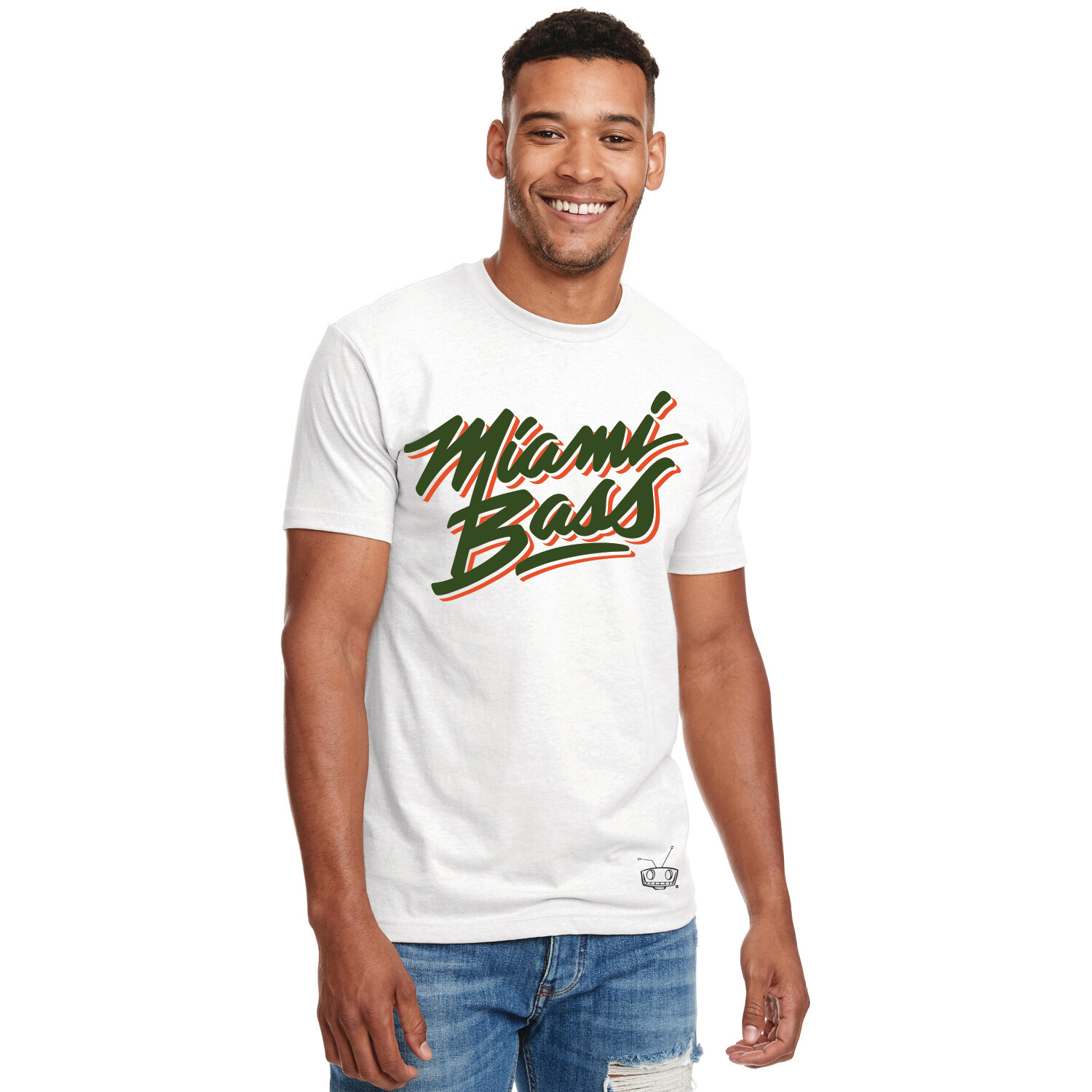 MIAMI BASS - WHITE TEE
