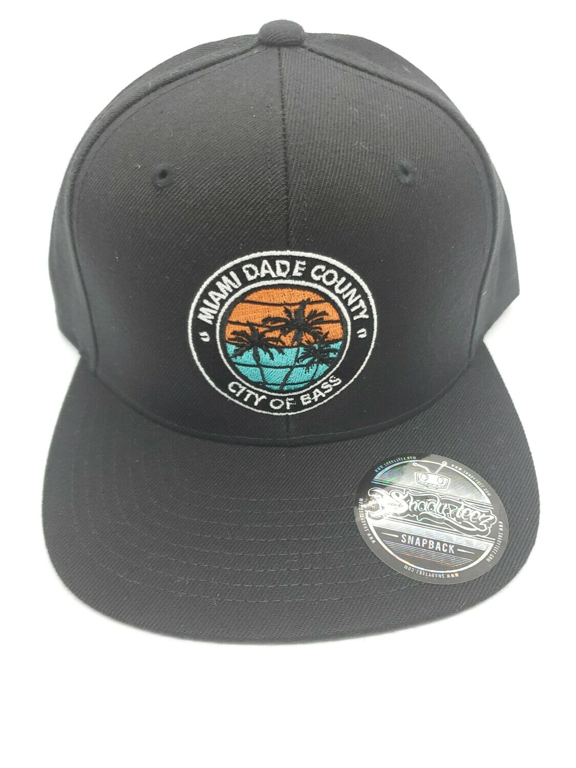 BLACK SNAP W/ CITY OF BASS IN DOLPHINS COLOR