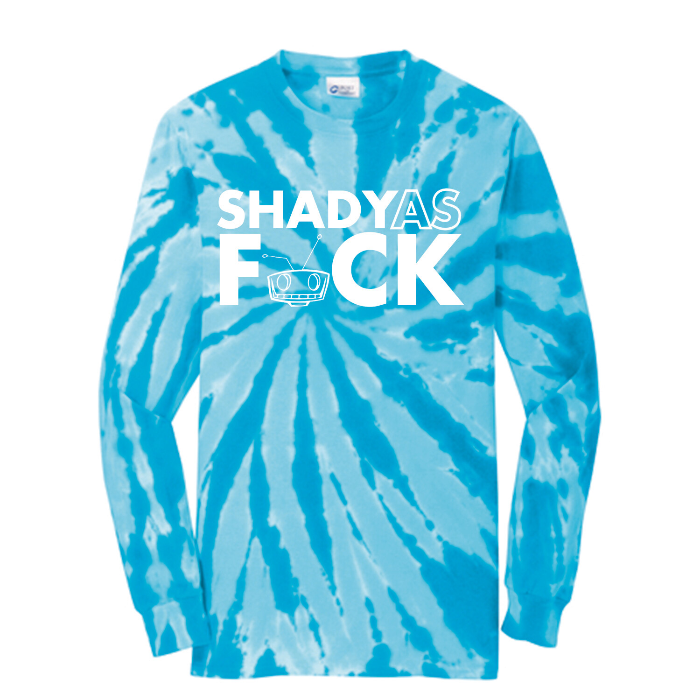 SHADY AF BLUE TIE DIE LONG SLEEVES