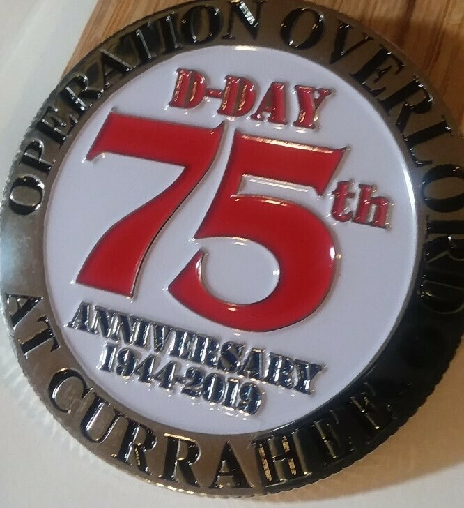 "5- Pack of the 75th Anniversary D-Day ""Operation Overload at Currahee"" Challenge Coin"