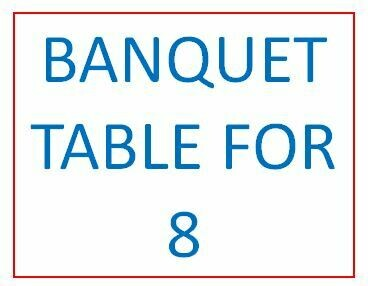2020 BANQUET TABLE FOR 8
