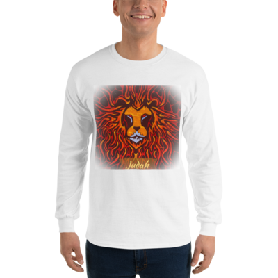 Tribe Brand Fire Lion Long Sleeve T-Shirt Men