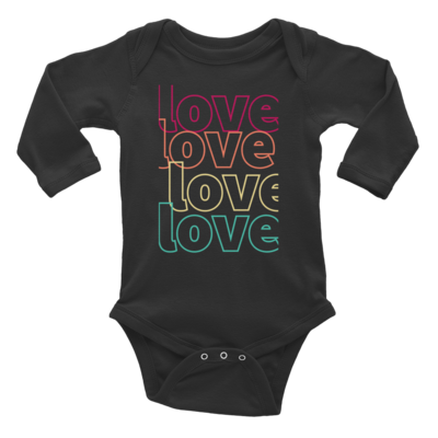 Tribe Brand Love,Love,Love Infant Long Sleeve Bodysuit