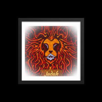 Tribe Brand Fire Lion Framed poster