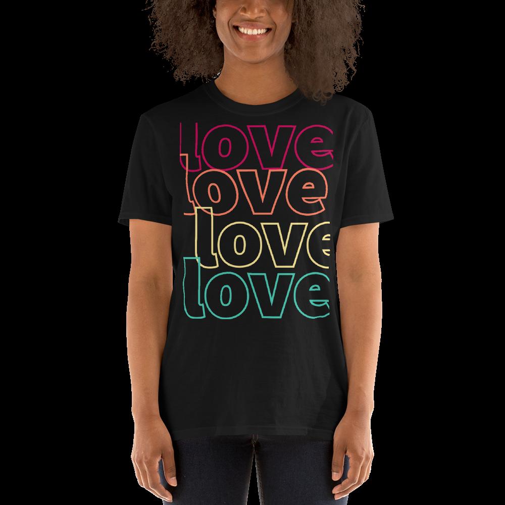 Tribe Brand Love,Love,Love Short-Sleeve Unisex T-Shirt