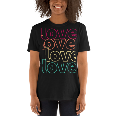 Tribe Brand Love,Love,Love Short-Sleeve Unisex T-Shirt