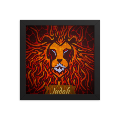 Tribe Brand Fire Lion Framed poster