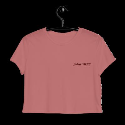 Tribe Brand John 10:27 Emroidered Crop Tee