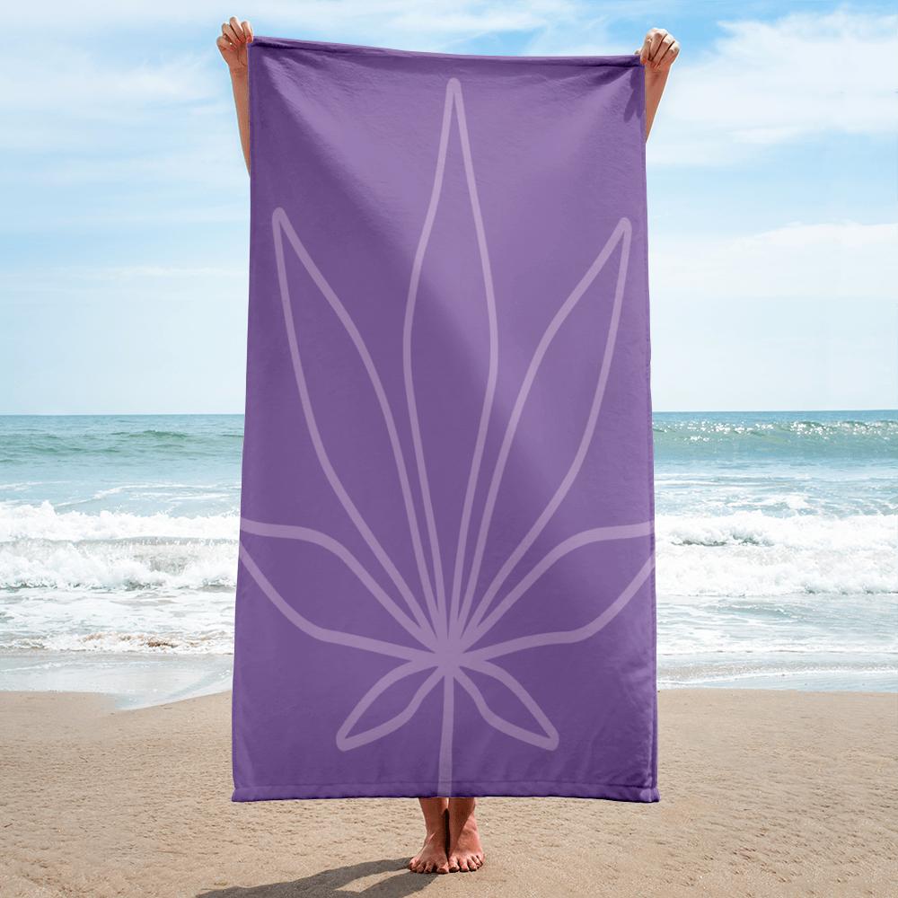 Tribe Brand Purple Marijuana Beach Towel