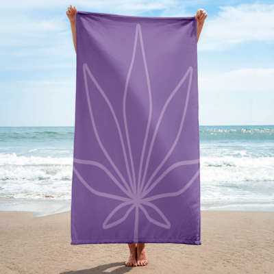 Tribe Brand Purple Marijuana Beach Towel