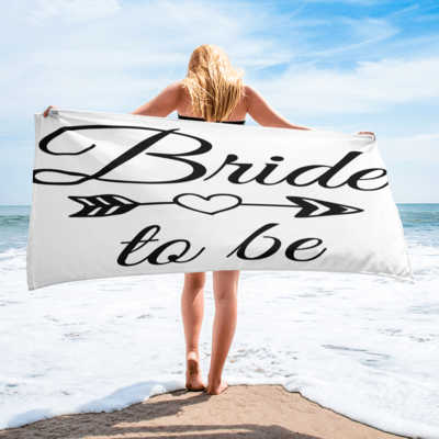 Tribe Brand Bride To Be Beach Towel