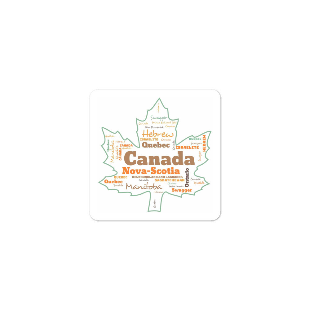 Canadian Hebrew Israelite Bubble-free stickers