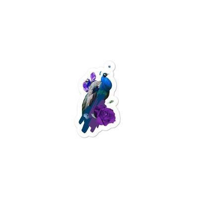 Purple Peacock Bubble-free stickers
