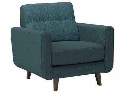 Rivet Sloane Mid-Century Modern Tufted Accent Chair, 32.7