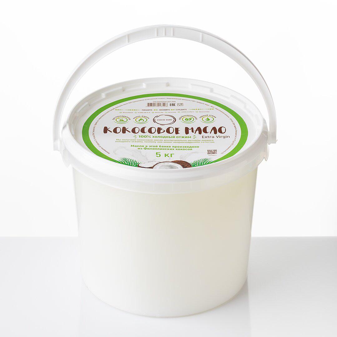 Масло кокосовое раннего отжима nature  5 кг. COCO DAY