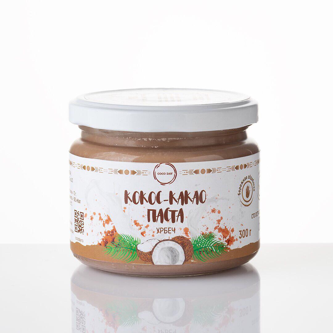 Паста  шоколадно-кокосовая тонкой протирки nature  300 гр. COCO DAY