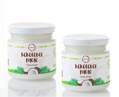 2 шт Масло кокосовое 100% натуральное бережной обработки 200 мл COCO DAY
