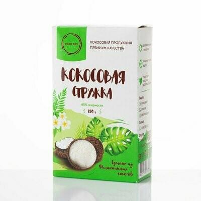 Стружка кокосовая 100% натуральная бережной обработки 150 гр COCO DAY