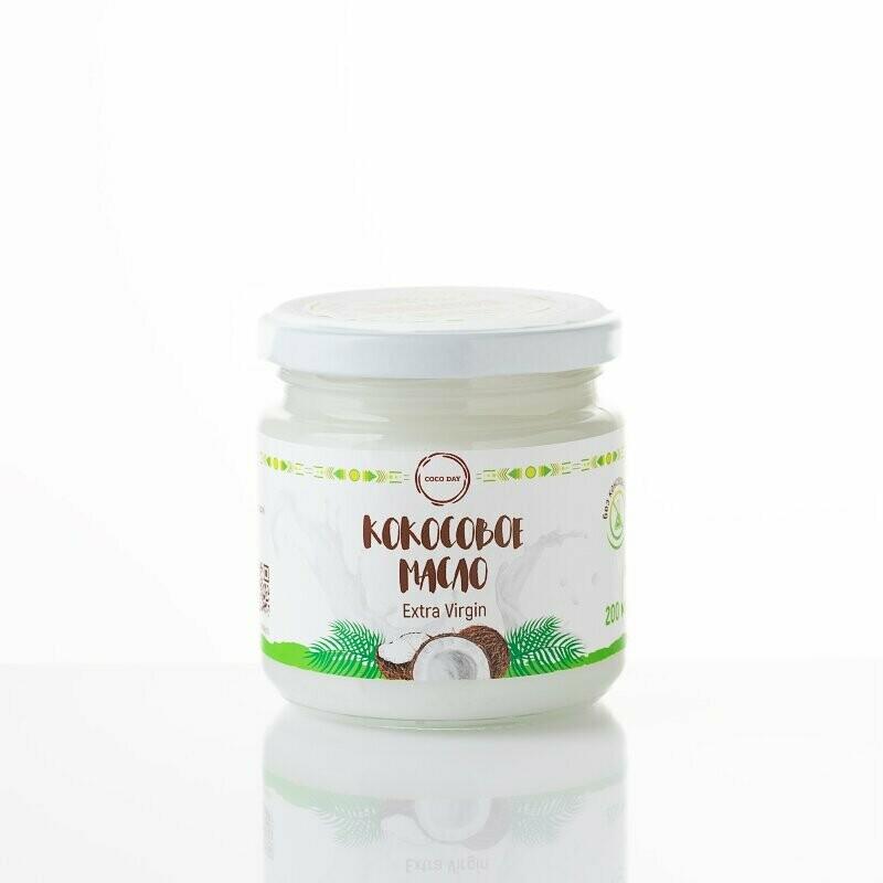 Масло кокосовое раннего отжима nature  200 мл. COCO DAY