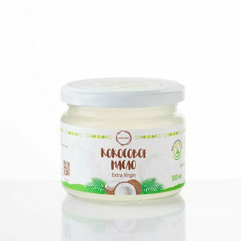 Масло кокосовое раннего отжима nature  300 мл. COCO DAY
