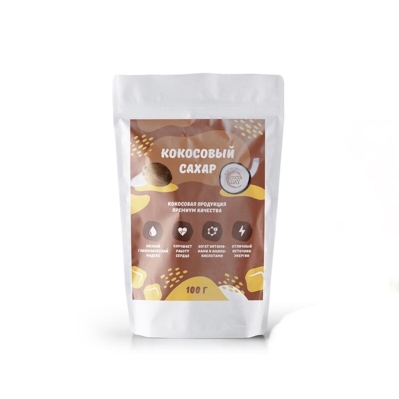 Сахар кокосовый DRY BY SUN no so2  100 gr COCO DAY