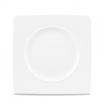 MEDIUM RIM SQUARE PLATE 21 cm