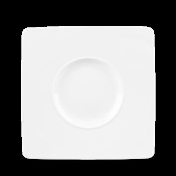 WIDE RIM SQUARE PLATE 21 cm