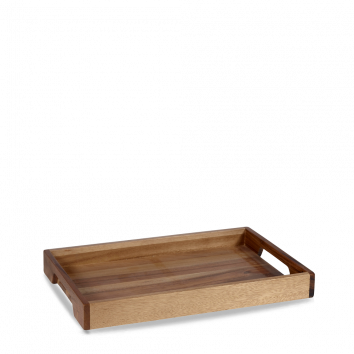 SOLID BASE HANDLED TRAY