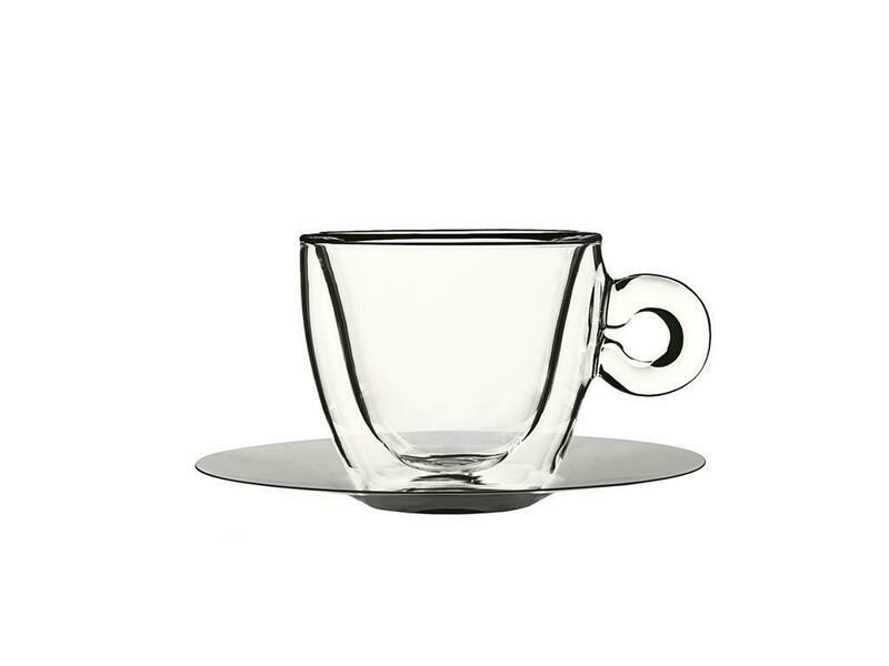 Bormioli Luigi - Tazza Cappuccino Con Piatto 16,5 cl Thermic Glass